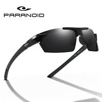 PARANOID Polarized Sunglasses Men's Sports Running Cycling Glasses UV400 Goggles