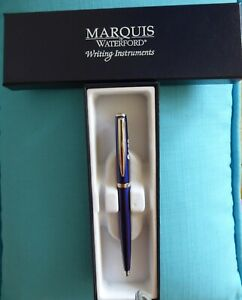 Marquis by Waterford Black Ink Ball Point Pen Gun Metal Finish Marked SAS unused