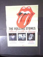 "X rolling stones- tongue logo Bigger Bang POSTER approx-18X24"""