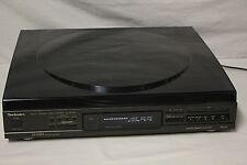 Vintage Technics CD Player Model SL-PC705 Top Load Carousel + Dust Cover
