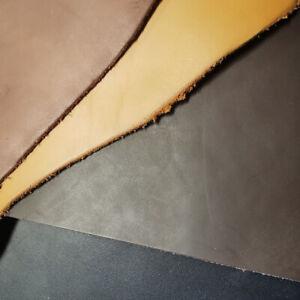 Lederhaut Rindsleder Sattelleder pflanzlich gegerbt glatt Ledertaschen RESTE 2mm