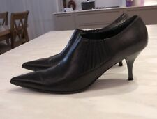 Nando Muzi, Black Ancle Boots, Pointy Toe, Size 38, Made In Italy, Non Slip Sole
