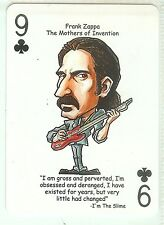 FRANK ZAPPA HOT RATS MOTHERS INVENTION R&R HALL OF FAME SINGLE SWAP PLAYING CARD