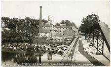 RPPC NY Stittville Knitting Mill Across the Bridge (Beach Photo) Oneida Co