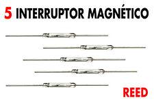 5 x Interruptor magnético REED, NO (normalmente abierto), Nuevos !!