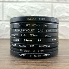 8 Various 67MM Lens Filters Hoya Arrow Topaz Skylight Digital Film Camera Lenses