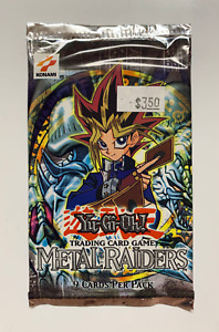Yu-Gi-Oh! Metal Raiders MRD Unlimited Booster Pack Original Konami Logo
