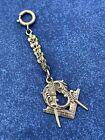 vintage 10kt gold masonic shriner Freemason pocket watch fob 4g Z706