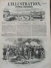 L' ILLUSTRATION 1850 N 398 COLLATIONS MILITAIRE AU CAMP DE VERSAILLES  A SATORY