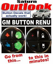2007-2010 SATURN OUTLOOK AC BUTTON DECALS STICKERS GM CLIMATE CONTROL REPAIR