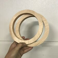 """6.5"""" Birch Wood Speaker Ring Pair for Fiberglass Speaker Pod / Pods"""