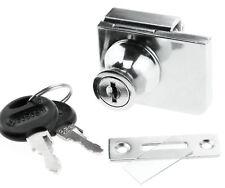 Lock For Showcases Cabinet Swinging Hinged Glass Display Door + 2 Secure Keys