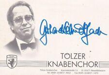 GERHARD SCHMIDT-GADEN Choir Director & Founder, Tolzer Knabenchor