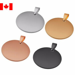 1PC round Pet ID Tags Phone circle Blank engravable dog Tag pendant 20mm-35mm