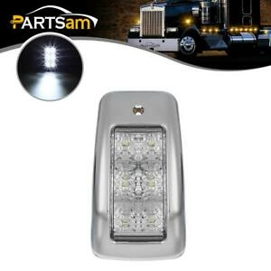 Truck Semi-Trailer White 6 LED Cab Marker Roof Running Clearance Light Single
