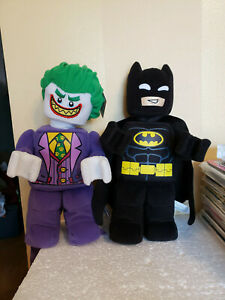 Lego Joker & Batman 12'' Minifigure Plush Doll From Batman Movie 853652 853660