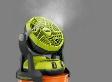 ☀New Ryobi 18-Volt One+ Hybrid Portable Bucket Top Misting Fan kit with Battery☀
