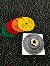 "4"" Xlerator Dry/Wet Polishing Kit (Velcro + 4 Grits)"