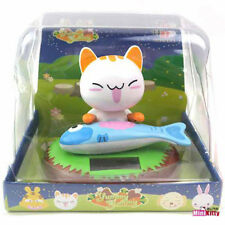 Orcara Animal Toy Cat Fish Eating Nohohon Solar ECO Japan Figure Limited