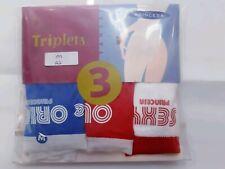 71b22d0936f6 LOTE 3 tangas TRIPLETS PRINCESA Talla M NUEVAS lenceria mujer - couche  algodon