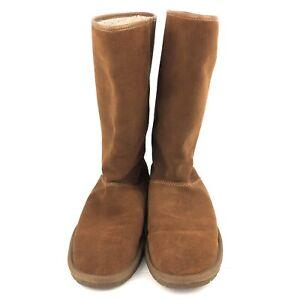 Coach Giselle Suede Winter Boots Women's Size 10 Saddle Light Brown EUC