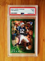 2002 Topps Chrome #100 TOM BRADY - PSA 7 NM