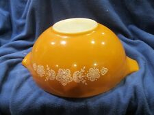 Pyrex Gold Butterfly Cinderella Mixing Nesting Bowl 4 Qt 444