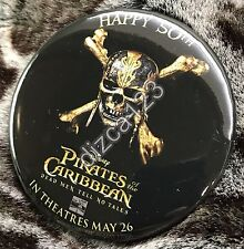 Disney Button Pirates of the Caribbean 50th Anniversary Button 3/18/17 Button