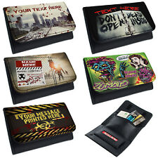 More details for personalised tobacco pouch zombie rolling baccy wallet smoking gift dead horror