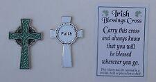 a 1x IRISH BLESSING CROSS faith POCKET TOKEN CHARM celtic encourage good luck