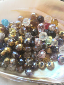100Pcs 7x10mm Multicolor Faceted Crystal Loose Beads