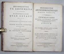 XENOPHON: QUAE EXTANT VOL. IV, Ed. J. G. SCHNEIDER EA 1816 Halbleder, Griechisch