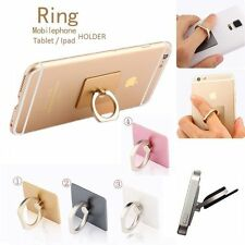 Universal 360° Rotating Finger Ring Stand Holder With Hook For Cellphone Gold
