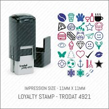 Loyalty Card Rubber Stamp Self Inking Small Pocket Sized With Cap - Trodat 4921