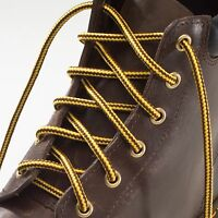 Strong Boot Laces Yellow and Brown Stripes for work, walking or hiking