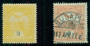 HUNGARY #86v, 1913 3f PALE YELLOW ERROR of Color NH w/normal shade, quite rare