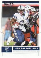 2017 Score Football #394 Jamaal Williams RC BYU Cougars