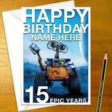 WALL-E Personalised Birthday Card • personalized disney pixar robot walle