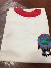 Vtg 1970s NOS Boy Scout BSA T-shirt Boys 18 XL 100% Cotton USA Scouting Camp 73