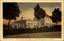 Eggersdorf Sachsen-Anhalt AK ~1910 Bahnhof Gasthof Zu den zwei Linden gelaufen