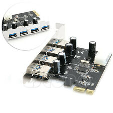 4 Port PCI-E to USB 3.0 HUB PCI Express Expansion Card Adapter 5 Gbps Speed New