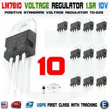 10pcs LM7810 L7810CV L7810 ST TO-220 Voltage Regulator 10V 1.5A Linear Positive