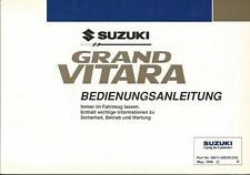 SUZUKI GRAND VITARA Betriebsanleitung 1998 Bedienungsanleitung  Handbuch BA