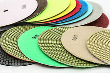 7 Inch Diamond Polishing Pads 8 Piece Set WET/DRY Granite Concrete Stone Marble