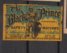 Ancienne  étiquette   allumettes  Belgique  A948  Chevalier Noir  2