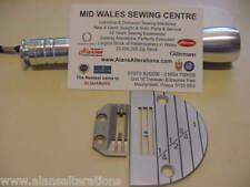Placa de la aguja & pienso perro para máquinas de coser industriales hermano E26 Set