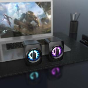 USB Computer Speakers System Stereo Bass Subwoofer for Desktop Laptop TV PC