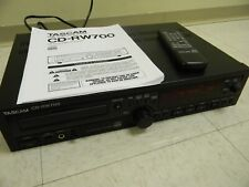 Tascam Cd-Rw700 Cd Rewritable Disc Recorder w/Remote Batteries & Manual Tested