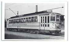 Essex, NJ Streetcar on Central Ave Line Postcard