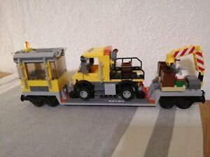 Lego 3677 Reparaturwaggon Schienen Fahrzeug RC 9V Eisenbahn